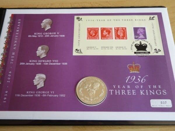 Rare 3 Kings anniversary silver proof medal